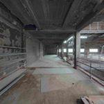 Vor der Sanierung: Innenraum der Salzfabrik in Essen.