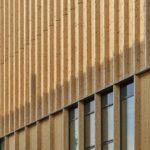Holzfassade am Sara Kulturhus von White Arkitekter