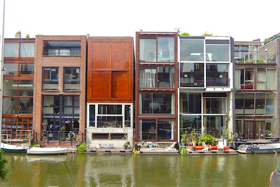 Schwimmende Häuser in Rotterdam