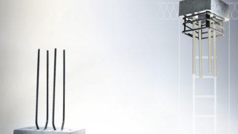 Sconnex Typ W für Stahlbetonwände und Typ M für Sockeldämmung von Mauerwerkswänden und Typ P und Wärmedämmelement für Stahlbetonstützen