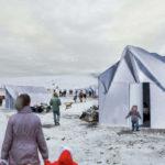 temporäre Flüchtlingsunterkünfte von zeltHAUS