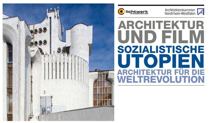 Flyer der Architekturfilm-Reihe Sozialistische Utopien