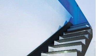 """Die Treppe """"cut-it"""" von Spitzbart Treppen war einer der Gewinner des Stahl-Innovationspreises 2015. Bild: Spitzbart Treppen"""