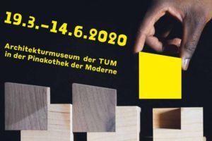 Ausstellungsplakat zur Architekturausstellung DesignBuild – Experience in Action in der Pinakothek der Moderne in München
