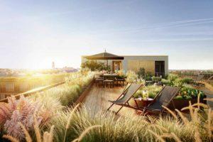 Gemeinschaftliche Dachterrasse als Zusatzangebot fürs Wohneigentum. Bild: xoio im Auftrag von Bauwerk Capital GmbH & Co. KG