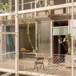 Entwurf für ein Hospiz in der Münchner Innenstadt mit großzügigem Balkon.