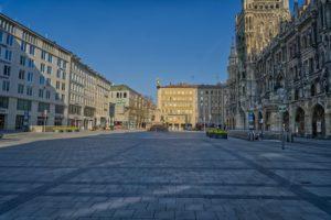 Münchner Innenstadt am Marienplatz