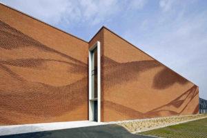 Ziegel-Fassade des Textil- und Bekleidungsverbands Nordwest in Münster