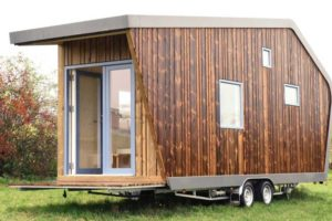 Tiny House mit Fassade aus Kebony-Holz. Bild: Kebony