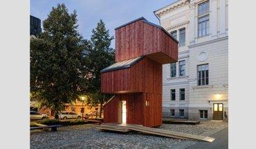 Modulares Bauen: Kokoon ist ein modulares Gebäudesystem für temporäres Wohnen in der Stadt und einer der Gewinner des Open Source Wood-Preises. Bild: Aalto University Wood Program / Tuomas Uusheimo