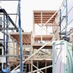 Holztragewerk für Minihaus in Tokio