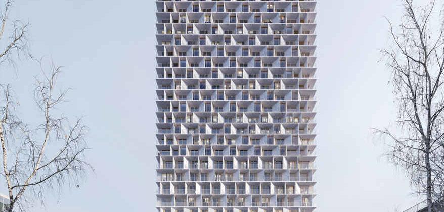 Holzhochhaus Tilia Tower in Lausanne