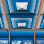Visualisierung einer textil sanierten Tennishalle mit dem Dämmelement-