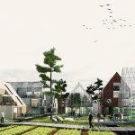 Übergang Landwirtschaft AgriQuartier, Oberbillwerder. Bild: ADEPT mit Karres + Brands / IBA Hamburg