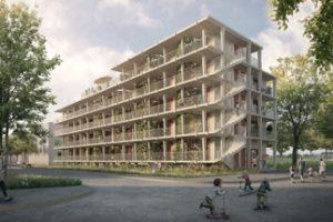 """Einer der Preisträger beim Architekturwettbewerb """"Wohnen für alle"""": der Entwurf von Duplex Architekten, Zürich. Bild: www.nightnurse.ch"""
