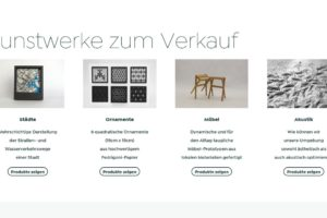 Webshop der TU Graz für Kunst- und Designobjekte