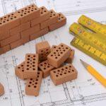 Gebäudeplan mit Mini-Ziegelsteinen