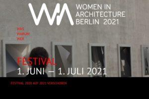 Webseite des Women in Architecture Festivals Berlin