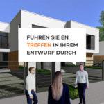 Visualisierung eines Hauses mit Avataren: Xuver macht es möglich, dass sich Planer und Auftraggeber online im Entwurf