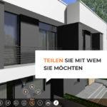 Visualisierung eines Hauses mit Xuver: Das Ergebnis kann am Bildschirm mit anderen geteilt werden. Bild: Xuver