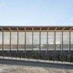 Gerichtsgebäude mit Architekturgewebe auf Guadeloupe