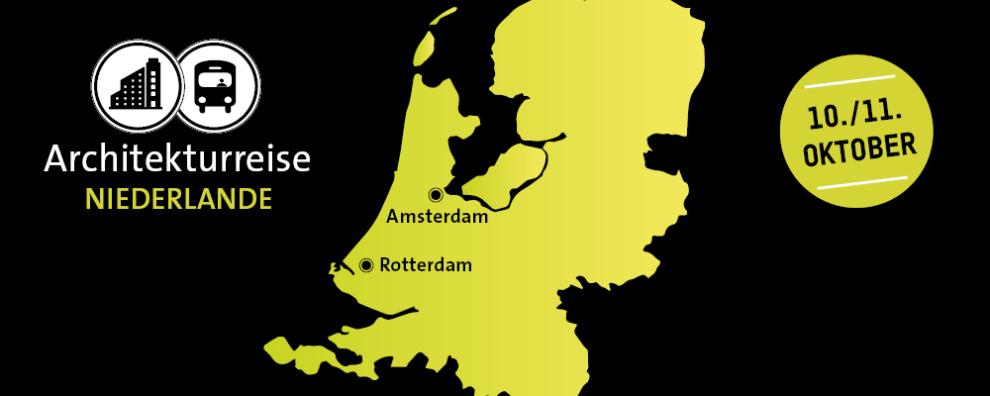 Banner für die Architekturreise Niederlande am 10. & 11. Oktober