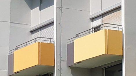 Balkone einer Wohnanlage