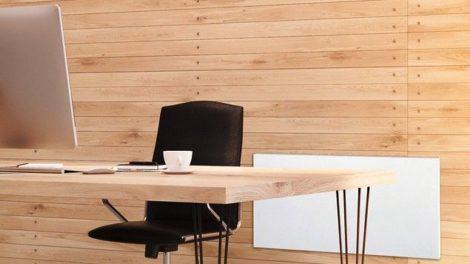 Anwendungsbeispiel Strahlungswärme von der Wand im Büro
