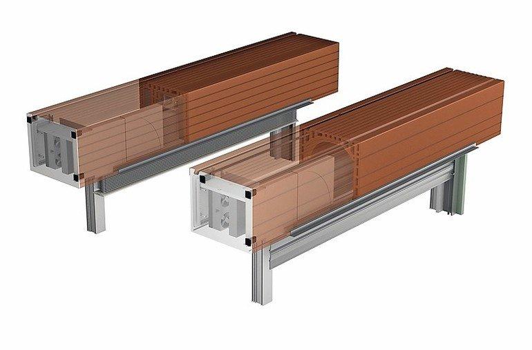 Ziegel-Rollladeneinbaukasten mit Lüftung von Beck + Heun. Bild: Beck + Heun