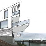 Zeichnung eines Hauses, in den späteren Bauplatz eingefügt. Bild: graf + partner Architekten, Frankenthal