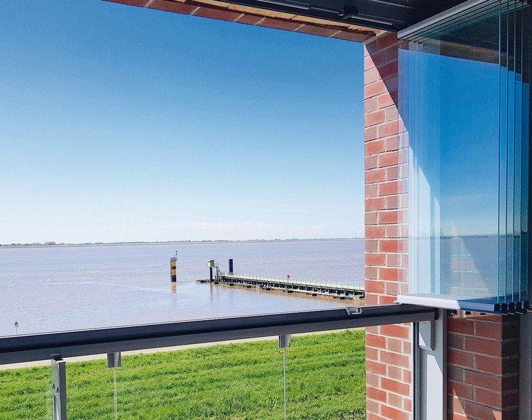 Berühmt Rahmenlose Einschienen-Balkonverglasung von Lumon &DH_07