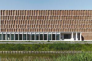 Individuell gefertigte Klinker für den Neubau des Stadtarchivs in Delft