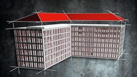 Modell einer Dachkonstruktion