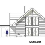Westansicht. Zeichnung: Dammann-Haus GmbH