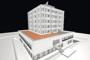 Das Teilmodell Architektur – mit den wichtigsten Bauteilen und Komponenten ausgestattet, ist es Basis für die Fachplanungen und Teilmodelle der eingebundenen Fachingenieure. Bild: AllesWirdGut, Wien