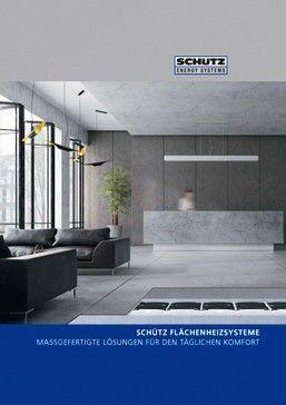 Broschüre über Flächenheizsysteme von Schütz, Bild: Schütz GmbH & Co. KGaA