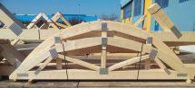 Als Nagelplatten-Konstruktion lassen sich Dachtragwerke, Holzrahmenwände und Geschossdecken sicher, schnell und wirtschaftlich ausführen. Bild: GIN