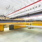 Druckströmungssystem unter einer Hallendecke. Bild: Geberit