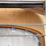 Dämmung auf einem gekrümmten Baukörper. Bild: Achim Zielke für Inthermo