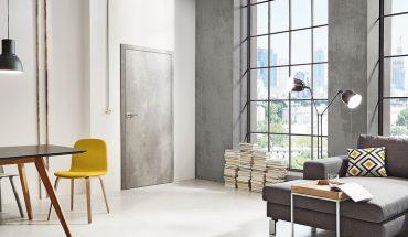 Innentüren mit neuen Oberflächen in Holz- oder Betonoptik. Bild: Jeld-Wen