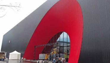 Holzbauweise für neue Ausstellungshallen in Dornbirn. Bild: Messe Dornbirn GmbH