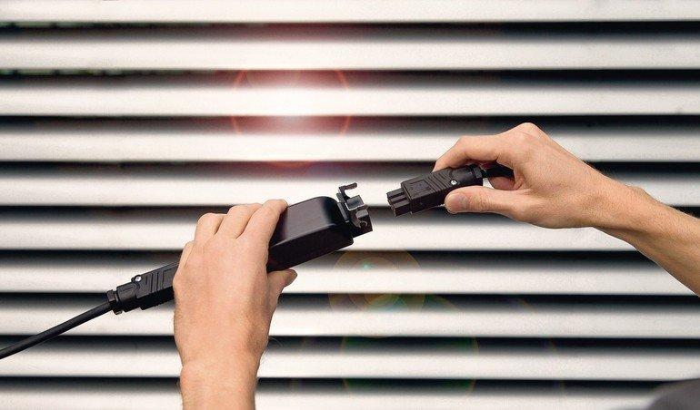 Blitz- und Überspannungsschutz für elektrischen Sonnenschutz. Bild: Warema