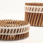 Skulptur aus kreisförmig angeordneten Holzstiften. Bild: Beck Fastener Group