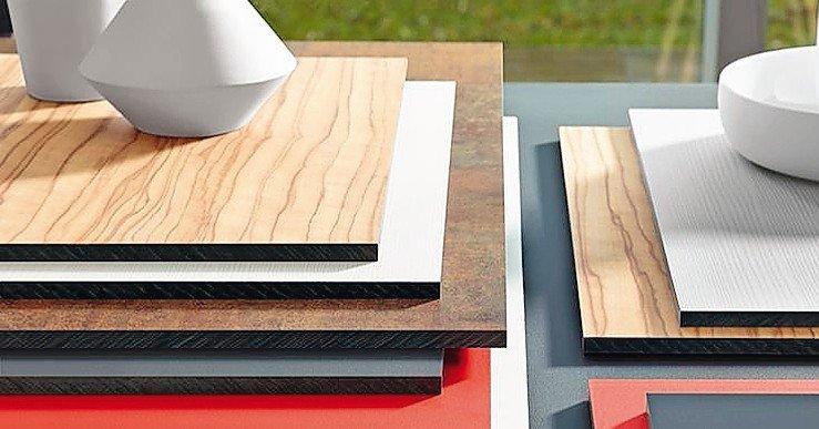 Materialproben. Bild: Pfleiderer Deutschland GmbH
