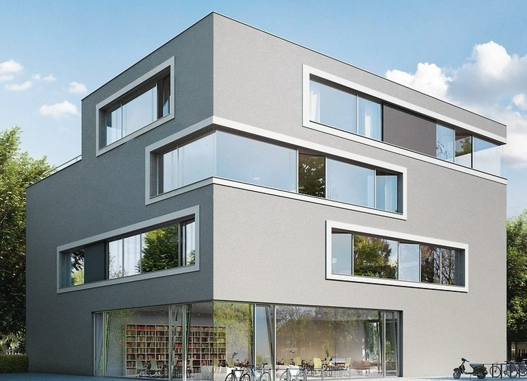 Filigrane Fenstertüren: Schlagregendichtigkeit bis 9A. Bild: Schüco International KG