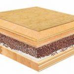 Querschnitt eines Holzfußbodens. Bild: Cemwood