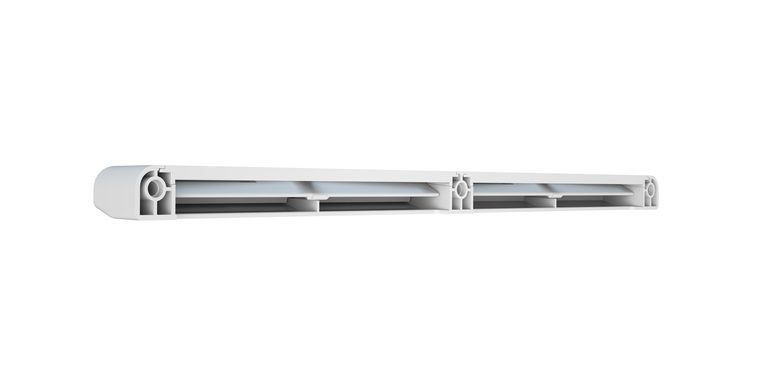 Fensterfalzlüfter: Rückseite mit geöffneten Lüftungsklappen