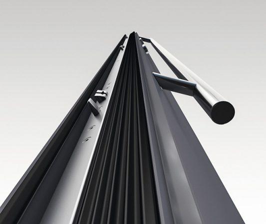 Aluminiumtüren: Dichter und sicherer durch 3-Fallenschloss