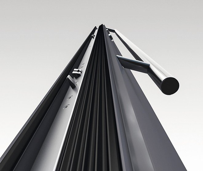 Aluminiumtüren: Dichter und sicherer durch 3-Fallenschloss. Bild: Drutex