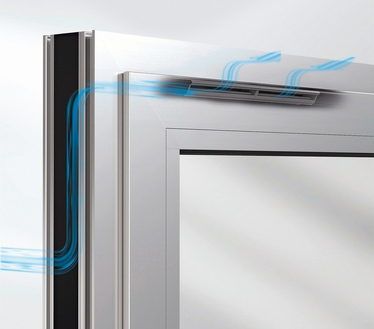 Fenster mit integriertem Fensterfalzlüfter